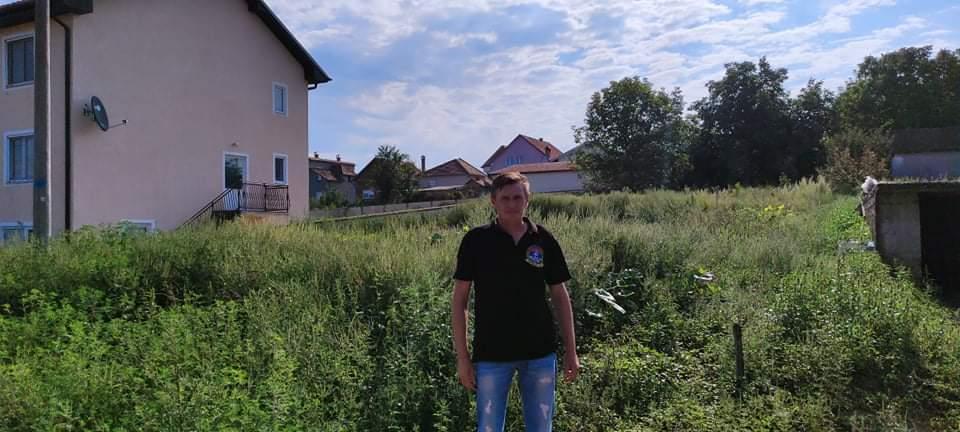 Стојић Марковић на месту будуће куће, 30. септембар 2021.